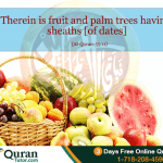 six different fruits mentioned in Quran