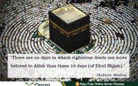 Dhul hijjah blessed days