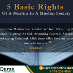 Right of a Muslim in a Society